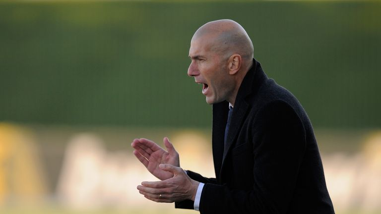 Zidane Real Madrid Coach Real Madrid's Zinedine Zidane