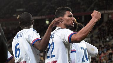 Clinton N'Jie and Lyon celebrate their winner