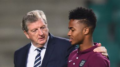 Roy Hodgson and Raheem Sterling: England boss has backed under-fire Liverpool forward