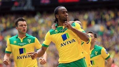 Cameron Jerome: Celebrates putting Norwich ahead at Wembley