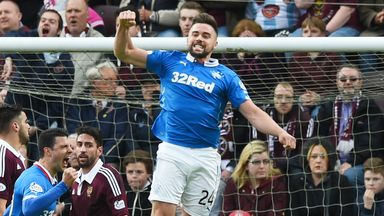 Darren McGregor jumps for joy during what was otherwise