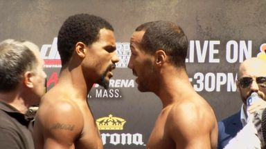 Dirrell and DeGale: Enjoyed a war of words at the weigh-in