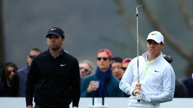 Rory McIlroy and Paul Casey: Couldn't be split after 21 holes.