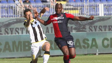 Paul Josa M'Poku of Cagliari in action against Udinese