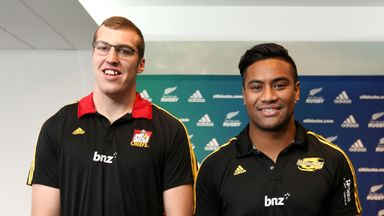 All Blacks Brodie Retallick (L) and Julian Savea opted against lucrative moves to Europe