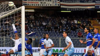 Lazio's Santiago Gentiletti scores from close range