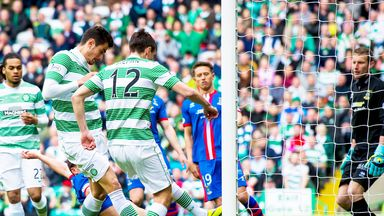 Stefan Scepovic: Scores Celtic's first goal against Inverness