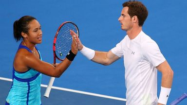 Andy Murray and Heather Watson of Great Britain are both in action on Thursday