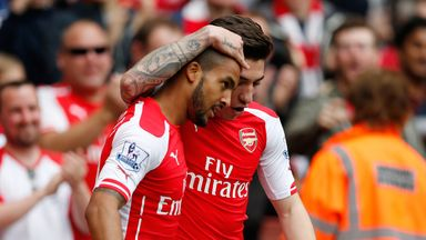 Theo Walcott: Grabbed his third career hat-trick in Arsenal's win