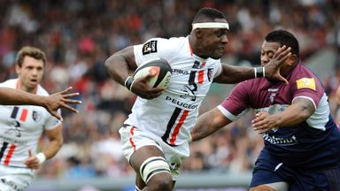 French flanker Yannick Nyanga helped Toulouse to edge out Bordeaux-Begles