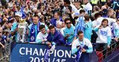 Champions parade through London
