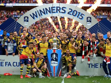 Arsenal beat Aston Villa 4-0 to retain the FA Cup