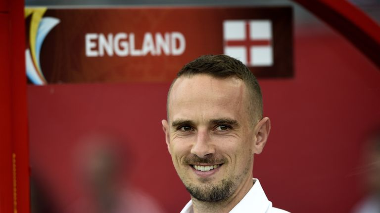 England's head coach Mark Sampson led the team to their first-ever knockout phase win