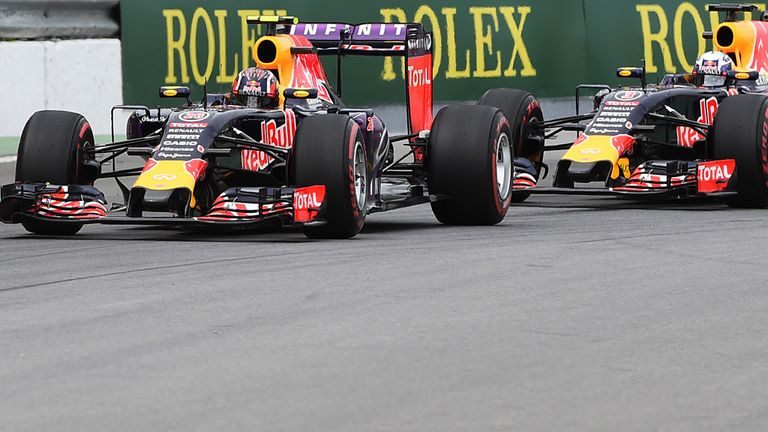 Daniil Kvyat leads Ricciardo in Canada. It's 3-3 between the team-mates in races they've both finished in 2015