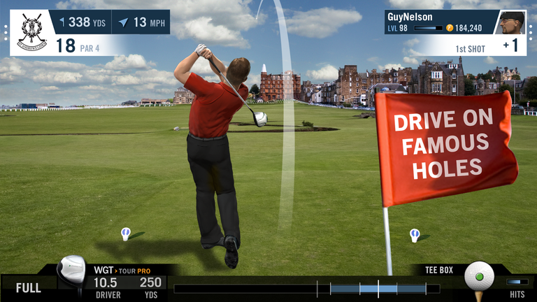 Free Online Golf Challenge, featuring iconic courses.