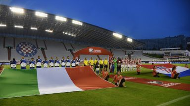 Italy and Croatia: Played European Qualifier to an empty stadium