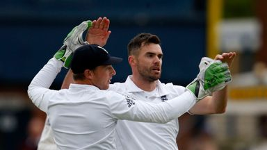 James Anderson (R): Is in confident mood ahead of the Ashes series