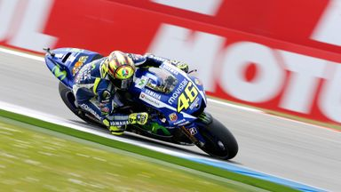 Italy's Valentino Rossi triumphed in Northamptonshire