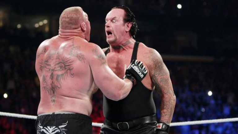 Brock Lesnar and The Undertaker faced off at SummerSlam 2015
