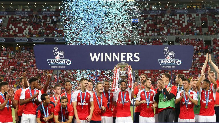 Arsenal lift the 2015 Asia Trophy