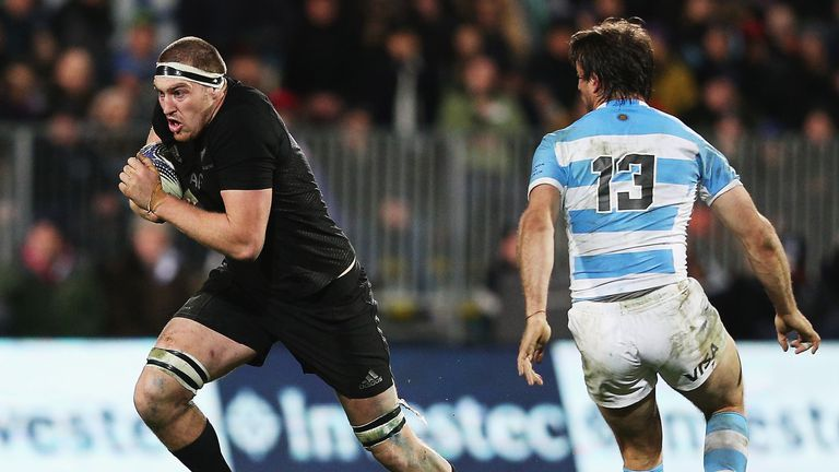Brodie Retallick on the charge