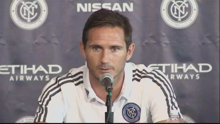 Frank Lampard moved to New York City FC in July 2015