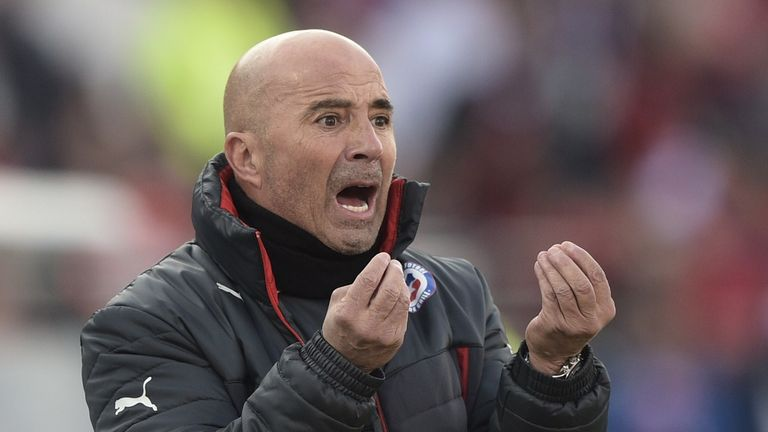 Chile's coach Jorge Sampaoli, who won the 2015 Copa America, came in third