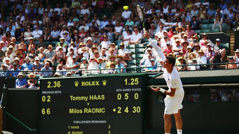 Milos Raonic: Serve reached a speed of 145mph on Wednesday