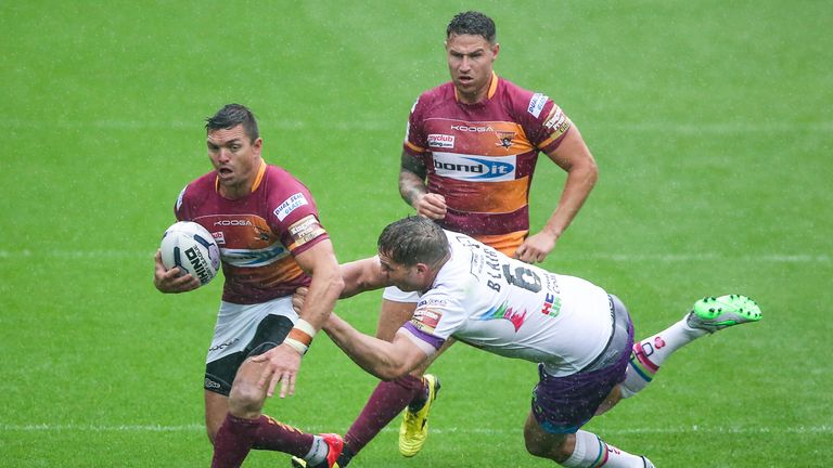 Danny Brough scored his 100th career try in Huddersfield's win over Hull KR