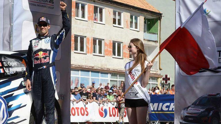 Sebastien Ogier ahead of the start in Poland