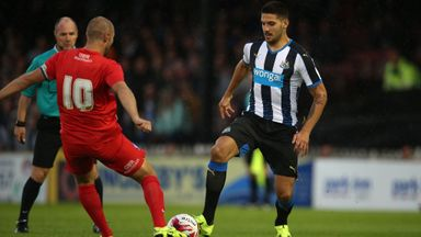 Aleksandar Mitrovic was on the losing side at York on his first outing in a Newcastle shirt