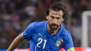 Italy's midfielder Andrea Pirlo was benched for the 1-0 win over Bulgaria
