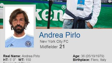 Andrea Pirlo's New York City FC profile