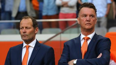 Louis van Gaal (right) worked with Danny Blind with the Netherlands at last year's World Cup