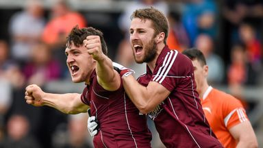 Galway duo Damien Comer (left) and Michael Lundy are plotting a third successive championship win over Ulster opposition