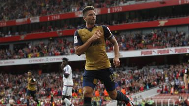 Olivier Giroud opened the scoring for Arsenal