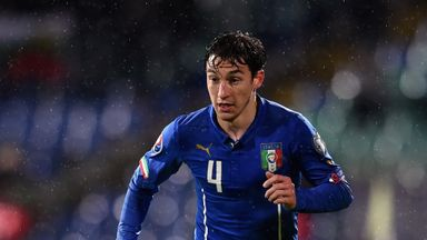 Matteo Darmian in action for Italy during the Euro 2016 Qualifier against Bulgaria.