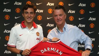 Matteo Darmian (left) is thrilled to be joining Manchester United
