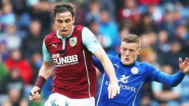 Michael Duff (l) has signed a new deal with Burnley