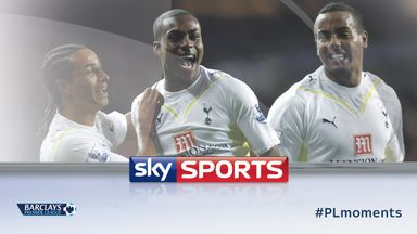 Danny Rose scores a sensational volley during Tottenham