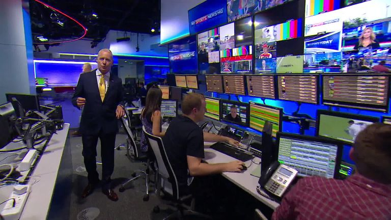 Jim White and his yellow tie will make sure you don't miss a beat
