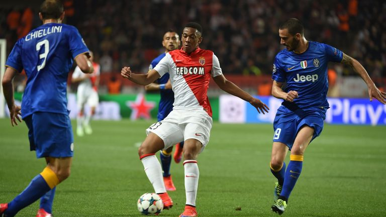In action against Juventus in the Champions League last season for Monaco
