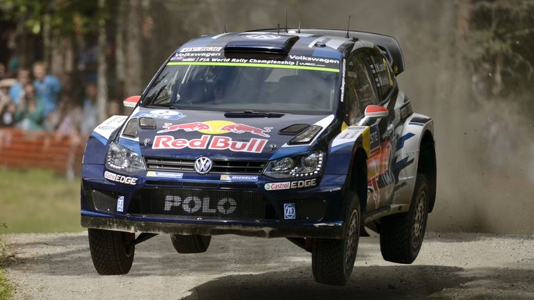 Jari-Matti Latvala in action at the Rally of Finland