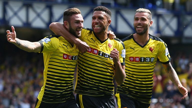 Watford's first game back in the Premier League saw them draw 2-2 at Everton