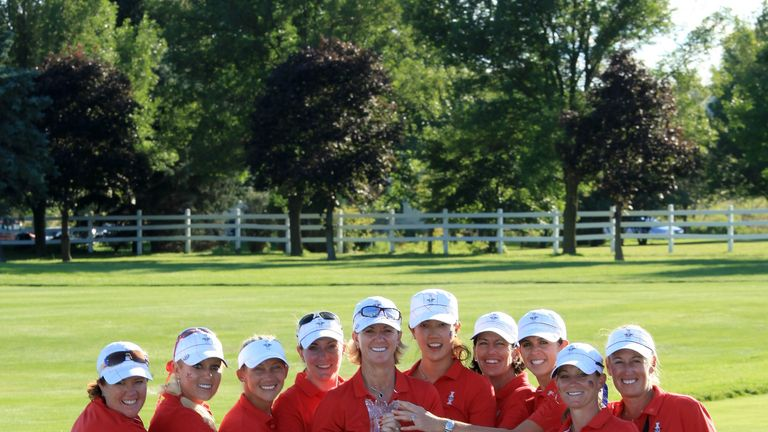 Image result for usa wins 2009 solheim cup