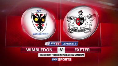 Wimbledon 2-1 Exeter
