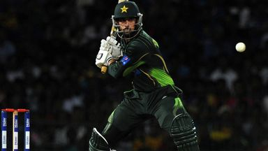 Man of the match Anwar Ali during Pakistan