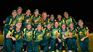 Australia players celebrate