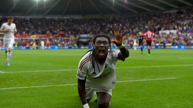 Bafetimbi Gomis scored the winner in another Swansea victory over Man Utd