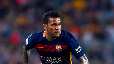 Dani Alves is facing a spell on the sidelines